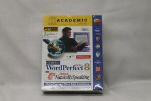 NIB Corel WordPerfect Suite 8 with Dragon Naturally Speaking Academic Edition