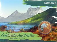2009 $1 CELEBRATE AUSTRALIA TASMANIA Coin on Card