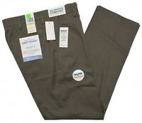 Dockers #10292 NEW Men's Flat Front Straight Fit Easy Khaki Stretch Pants