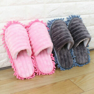 1 Pair Mop Slippers Lazy Floor Cleaning Mops Foot Socks Shoes Quick Polishing UK