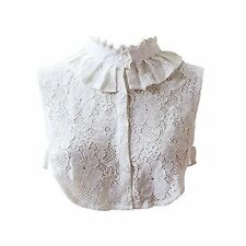 Angel Sweet Womens Lace Stand Peter Pan Detachable Fake Collar Cuff Cotton Tie