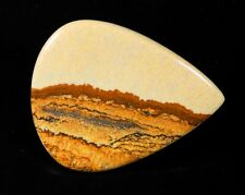 84Ct Natural Desert Mountain American Picture Jasper Pear Cabochon Gemstone A150