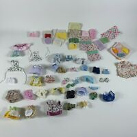 calico critters huge lot clothes outfits for figures/dolls AS IS for restoration