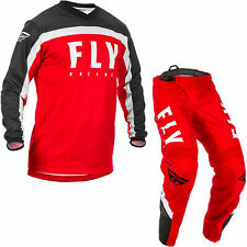 """Fly Racing 2020 F-16 Motocross Jersey & Pants Red Black White Kit MX 34"""" Large"""