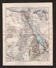 Landkarten map 1894: Äquatorial-AFRIKA. Politische Übersicht Fluss-Gebirge. Fors