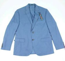 J Ferrar Light Blue Blazer Slim Fit Men's Size  42 Regular 2 buttons Suit Jacket