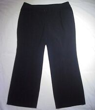Lane Bryant Black Career Dress Pants Spandex Blend Size 14P W36 x L28 Black