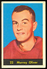 1960 61 PARKHURST HOCKEY #22 MURRAY OLIVER VG-EX DETROIT RED WINGS