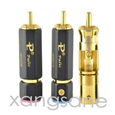 10 pcs Palic High Quality Gold Plated RCA Plug Lock Collect Solder Connector