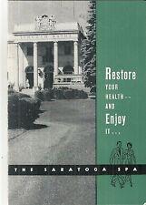 Vintage Booklet for Saratoga Spa Saratoga Springs New York