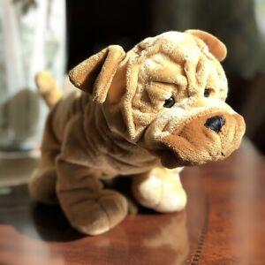 Ganz Webkinz SHAR PEI Plush Code HM416 Tan Brown Puppy Dog