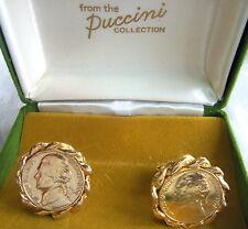 PUCCINI NEW IN BOX GOLDPLATED NICKLE  CUFFLINKS ESTATE JEWELRY FAB!