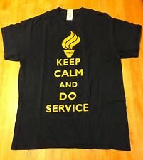 c946e29d6b Alpha Phi Omega KEEP CALM AND DO SERVICE T-Shirt Mens Womens Size M
