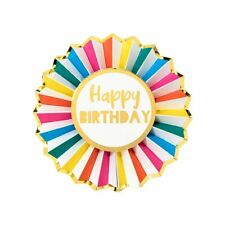 HAPPY BIRTHDAY BADGE - Rainbow Brights Party