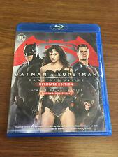 Batman v Superman: Dawn of Justice (Blu-ray/DVD, 2016, 3-Disc Set, Canadian...