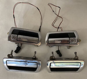 86-94  JAGUAR XJ6 XJ12 CHROME OEM FRONT & REAR OUTER DOOR HANDLES SET OF 4