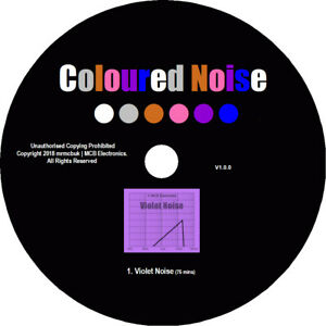 Violet Noise Test Tones CD - Relaxation Meditation Background Block Out Tinitus
