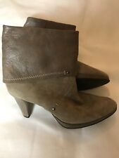 Peter Kaiser Designer Ankle Boots Suede & Leather Taupe Grey UK 8  RRP £189