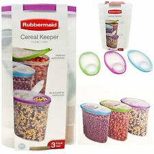 Food Storage Containers Set Cereal Container Dispenser 3 (1.5 gal) Pouring Spout
