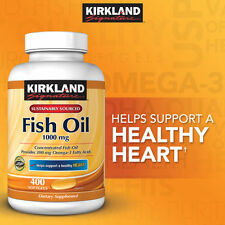 Kirkland Signature™ Omega-3 Fish Oil Concentrate 1000 mg, 400 Softgels