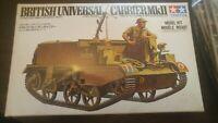 British Universal Carrier MKII 1:35 Scale model tank kit #MM199 Tamiya