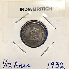 1932 British India 1/12 Anna **Pleasing Red/Brown Choice UNC Coin!!!**