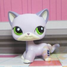 Littlest Pet Shop Animals LPS Loose Child Toys#2094 Lavender Purple Cat w/ Green