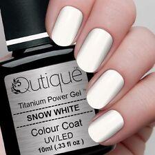 QUTIQUE Gel Nail Polish Colour -SNOW WHITE -UV & LED -opaque, french manicure