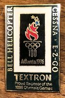 Bell Helicopter Cessna EZ Go Textron Atlanta 1996 Olympic Games Lapel Hat Pin