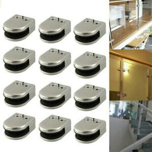304 Stainless Steel Glass Clamps Clips for Balustrade Staircase Handrail Garden