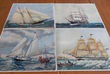 Four vintage maritime prints. Genuine SZL American prints 1960s. Good condition