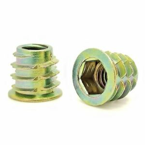 """25 Qty 5/16""""-18 Zinc Hex Flanged Threaded Inserts For Wood 