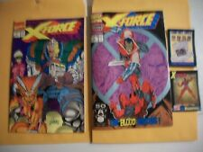 X-Force # 1 -1ST ISSUE With two trading card in bag & # 2