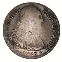Raw 1798 Mo Mexico 8R Uncertified Ungraded Mexican Silver 8 Reales Coin