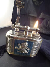Dunhill Unique Table Petrol Lighter - THE JOSEPH LUCAS - Lucite & Silver Plated