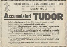 Z1802 TUDOR - Batterie Stazionarie - Pubblicità d'epoca - 1923 Old advertising