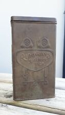 Vintage RIDGWAYS 5 O'CLOCK TEA Tin 1920s Shop Display Advertising Advertisement