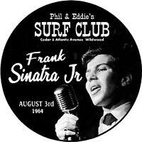 "FRANK SINATRA JR 1964 SURF CLUB Wildwood NJ 3"" Pin back Button Wildwood Legends"
