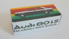 Repro Box Schuco 1:66 Audi 80 LS Werbeschachtel