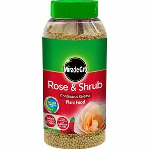 Rose & Shrub Feed 1kg Granular Plant Food Miracle Gro Bush Continuous Release