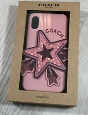 Coach iPhone X or XS Case with Oversized Star Glitter Silicone Cover
