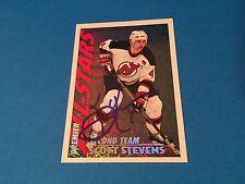 Scott Stevens Devils 1993-94 O-Pee-Chee Premier Signed Auto Card