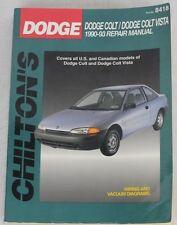 Chilton's Dodge Colt Vista 1990-93 Repair Manual Wiring & Vacuum Diagrams 8418