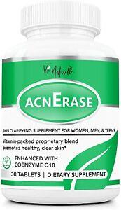 Acne Pills Supplement Treatment for Men, Women, Teens - 30 Natural Tablets