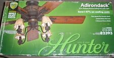 "HUNTER ADIRONDACK 52"" BRITTANY BRONZE CEILING FAN w/ LIGHT-#59006-DUST ARMOR"