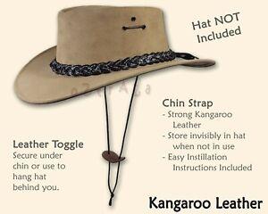 【oZtrALa】CHIN-STRAP Kangaroo Leather Cowboy Western Mens STAMPEDE STRING Hat ROO