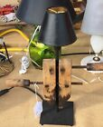 Woodworking Clamp Lamp Salvage Steampunk Light Man Cave Pipe