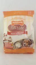 Nylabone Meaty Rawhide Moist & Meaty Middle Bacon Flavor Mini Small Dog 18 Ct.