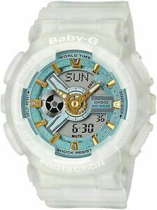 Casio G-Shock Baby-G BA110SC-7A Analog-Digital Skeleton Semi-Transparent White