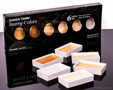 Kuretake Gansai Tambi Starry Colors 6 Piece Watercolor Set Metallic Pearlescent